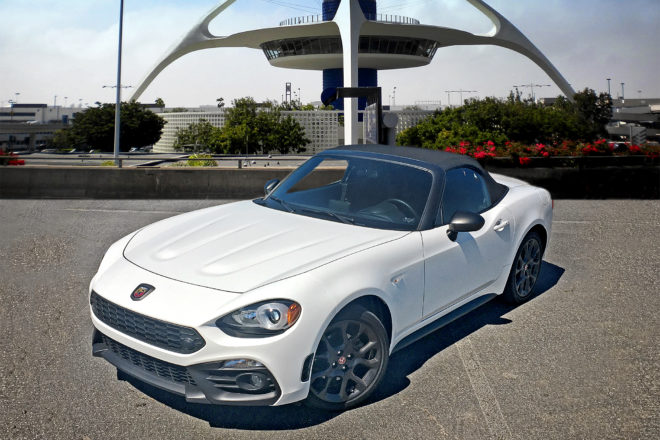 2017 Fiat 124 Spider Abarth front three quarter