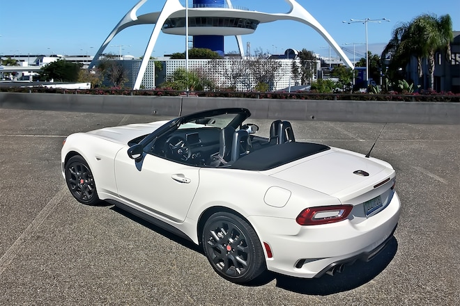 2017 Fiat 124 Spider Abarth Rear Three Quarter