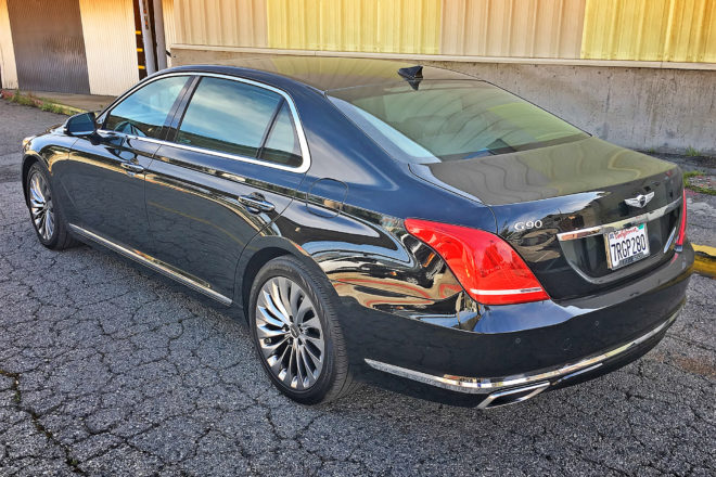 2017 Genesis G90 RWD 3 3T Premium rear three quarter