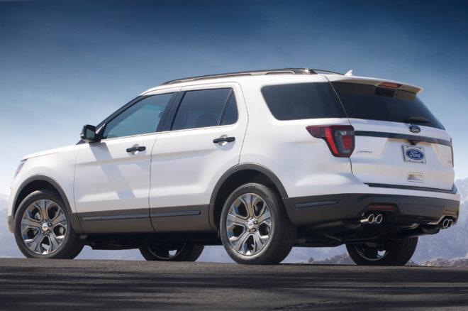 2018 Ford Explorer rear three quarter