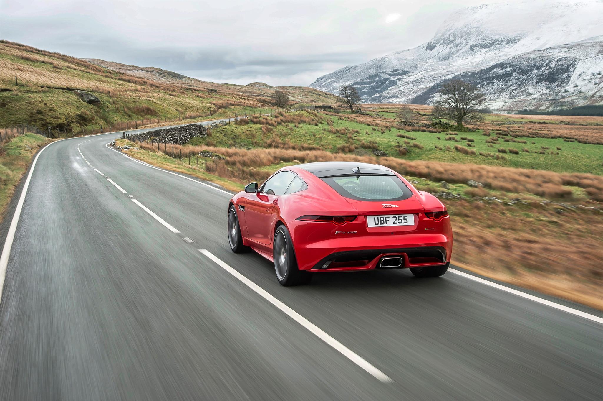 2018-Jaguar-F-Type-four-cylinder-rear-three-quarter-in-motion-7
