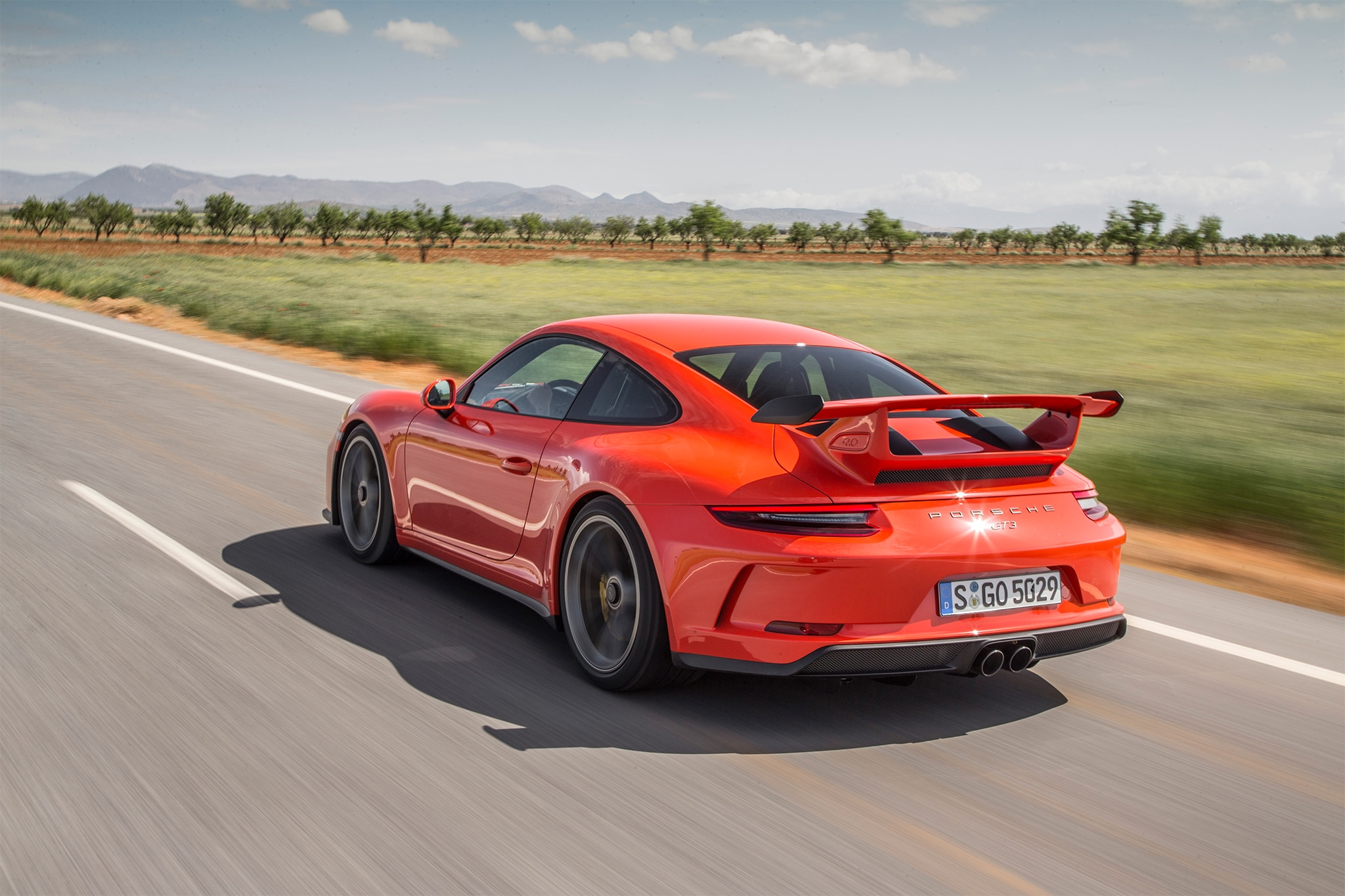 2018 Porsche 911 GT3 Rear Three Quarter In Motion 08