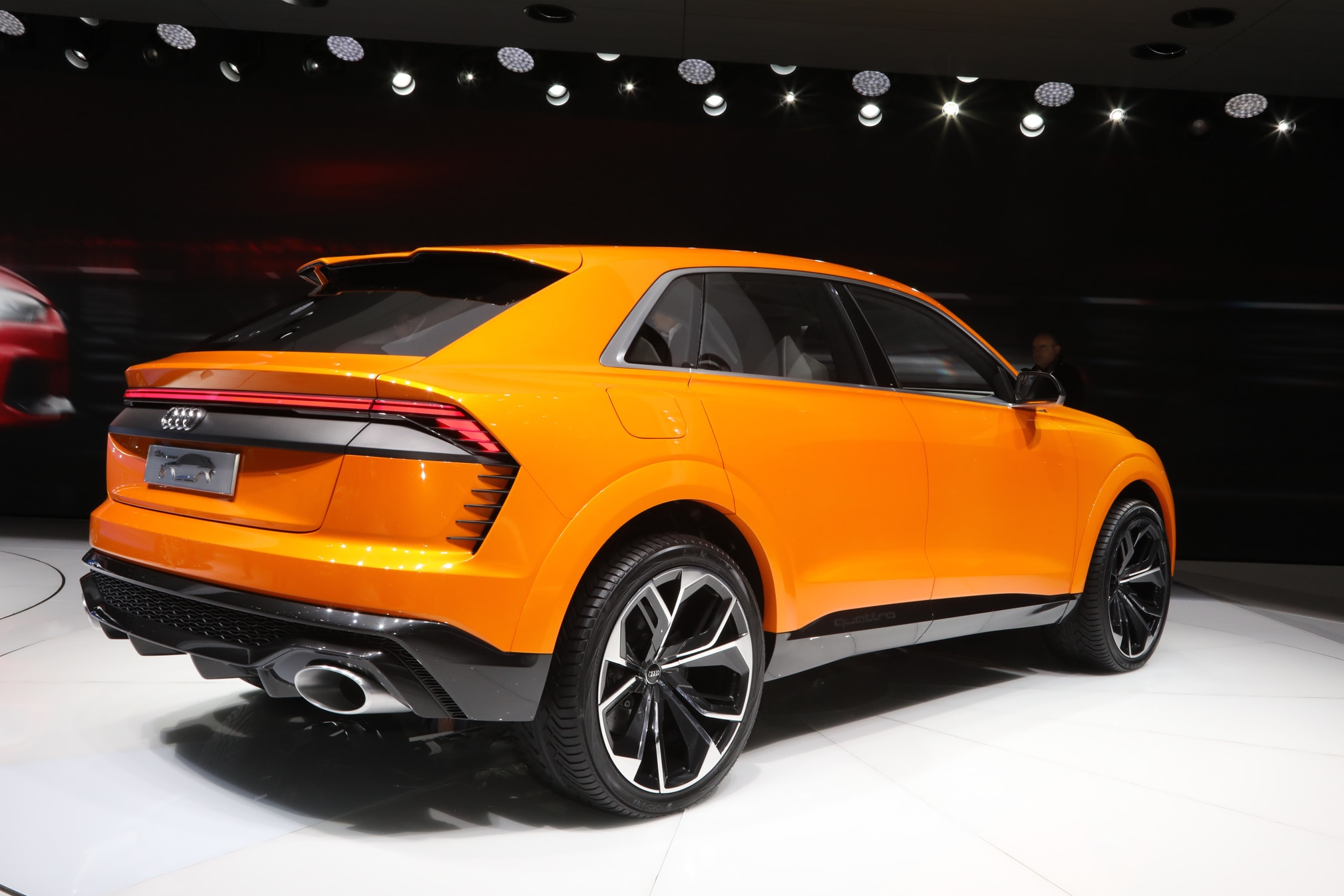 audi q8 sport concept future says rear sketch touch pedals teased audis motor quarter three automobilemag