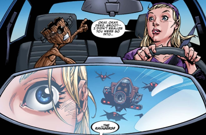 Ford EcoSport and Marvel Baby Groot Comic
