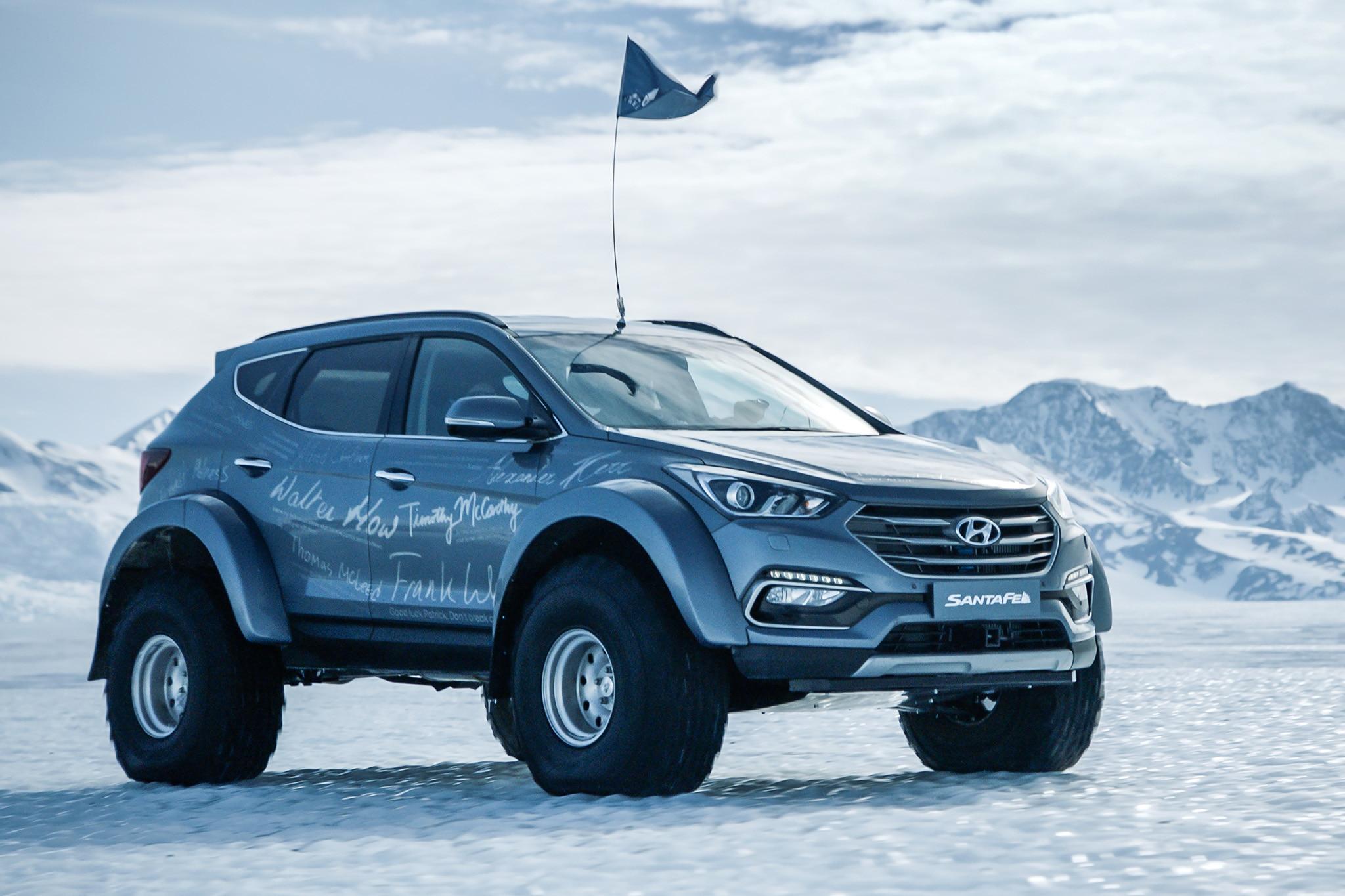 2016 Hyundai Santa Fe >> Ernest Shackleton's Great Grandson Completes Antarctica Quest in a Hyundai Santa Fe | Automobile ...