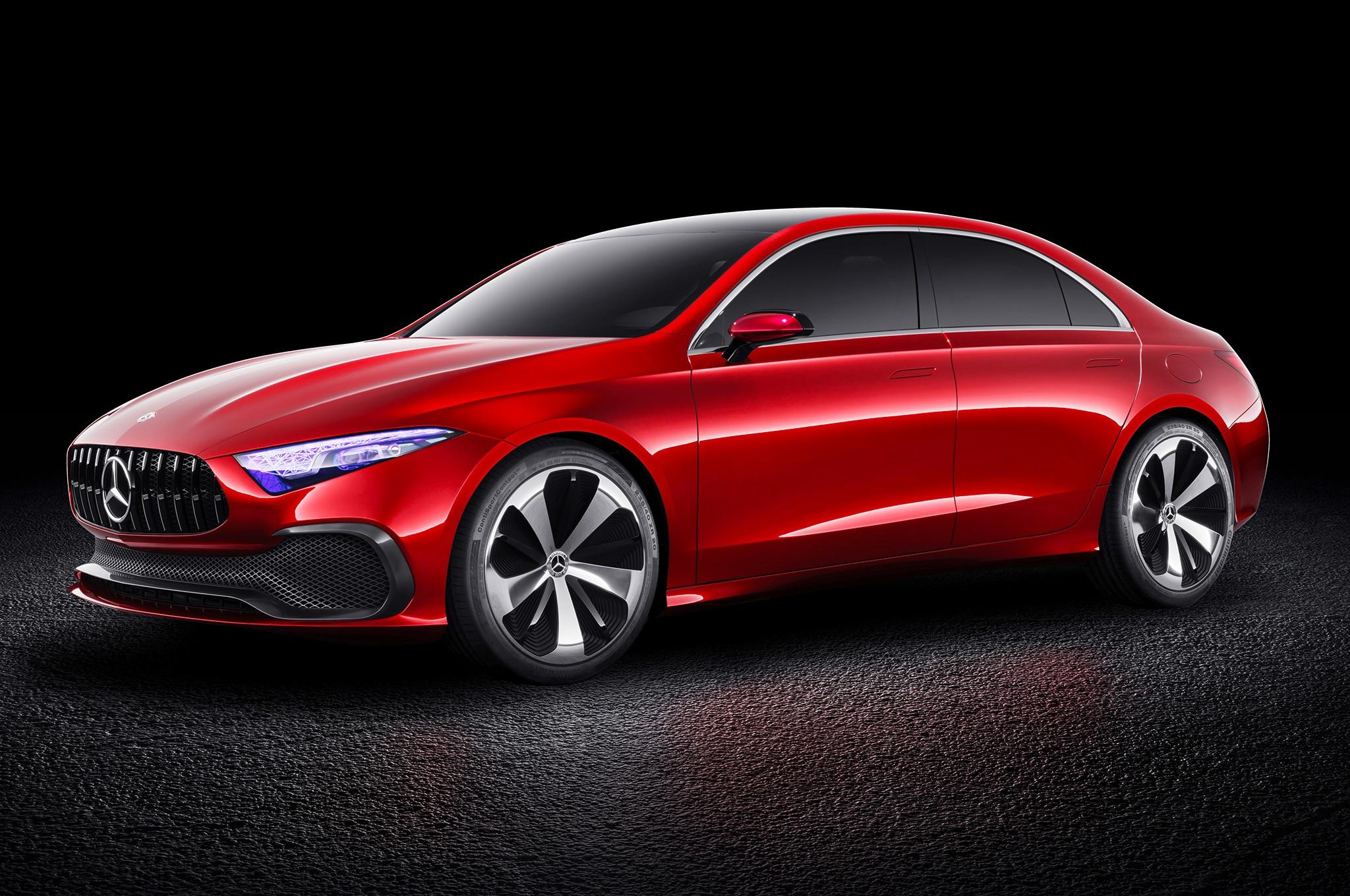 Mercedes Benz Concept A Sedan Previews Next Cla Automobile Magazine