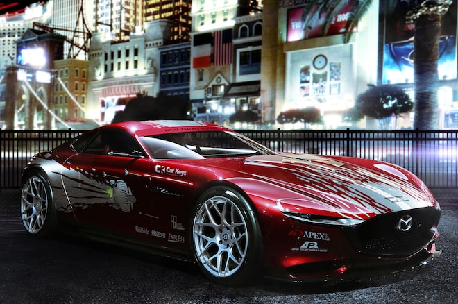 The Fast And The Furious Modern Renders Mazda RX 7 RX Vision Concept
