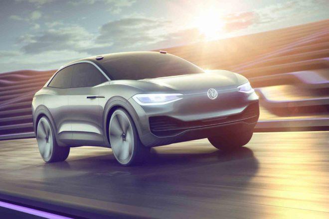 Volkswagen ID Crozz Concept front three quarter in motion 01
