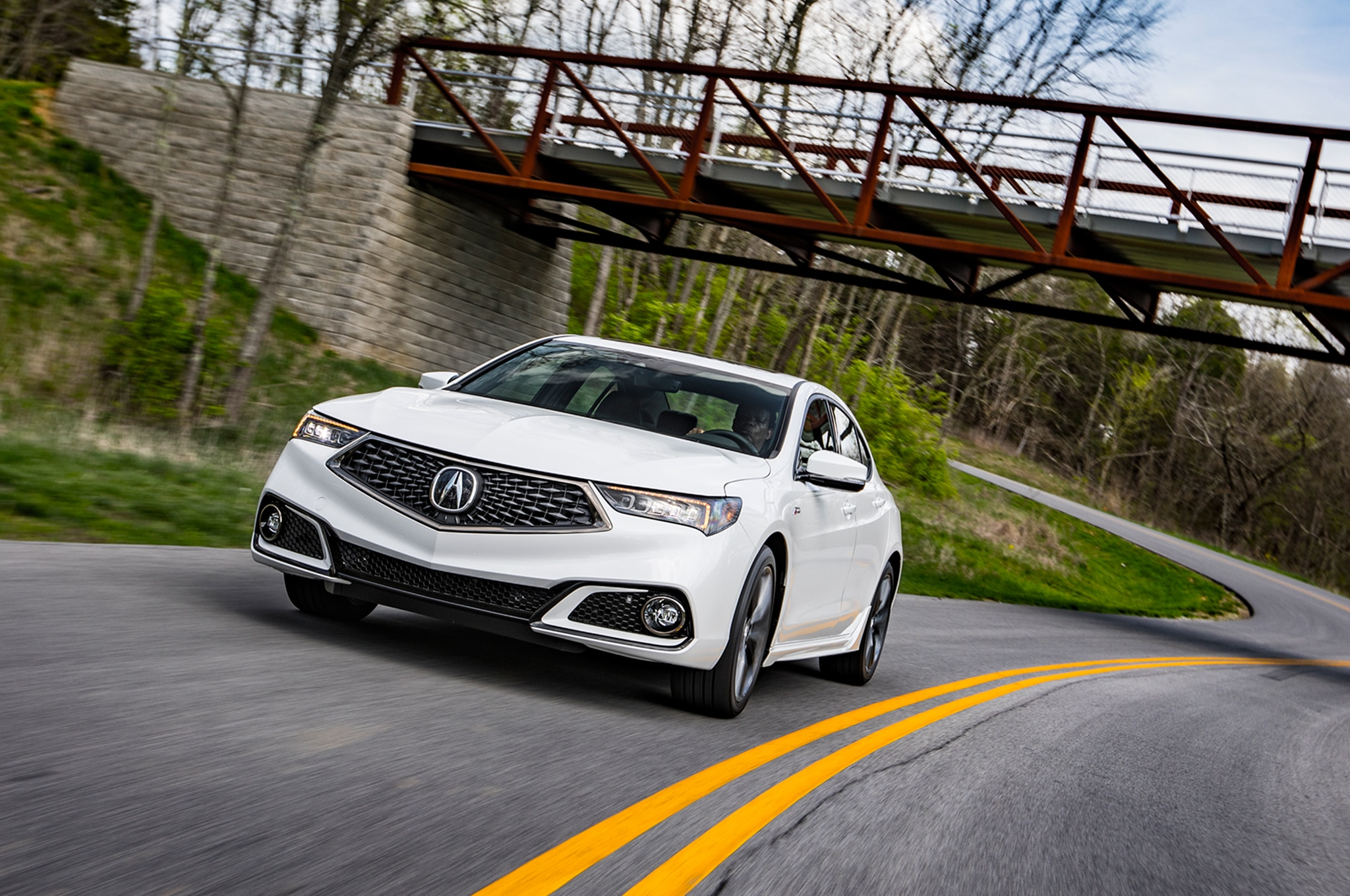 2018 Acura TLX SH AWD A Spec Front View In Motion