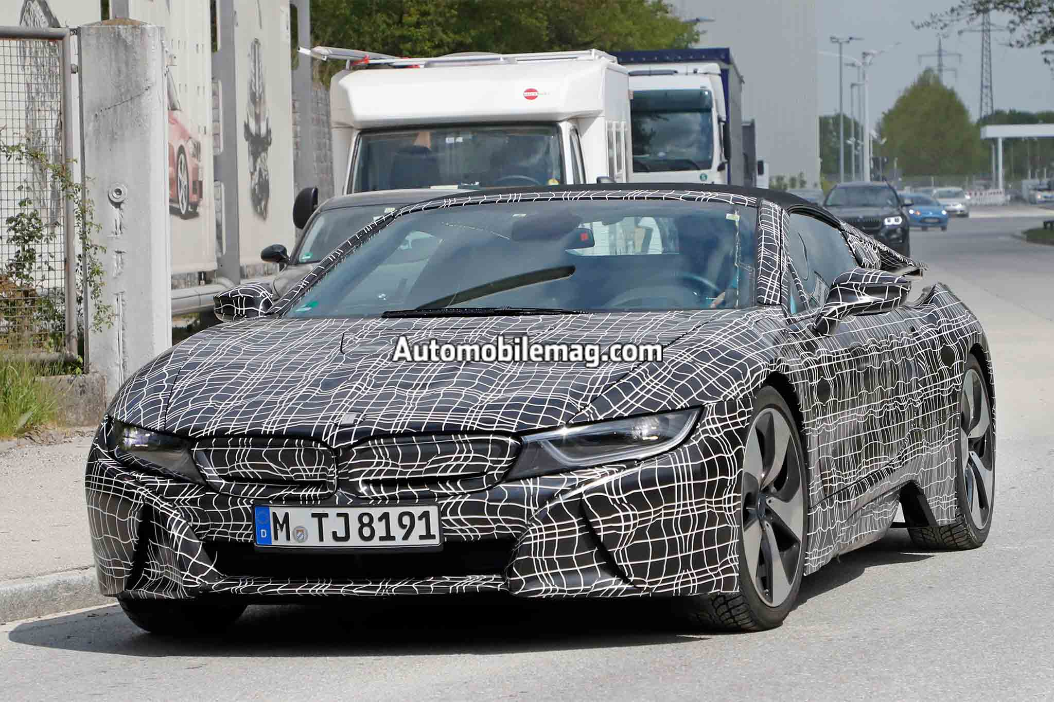 Spied 2018 Bmw I8 Spyder Looks Production Ready Automobile Magazine