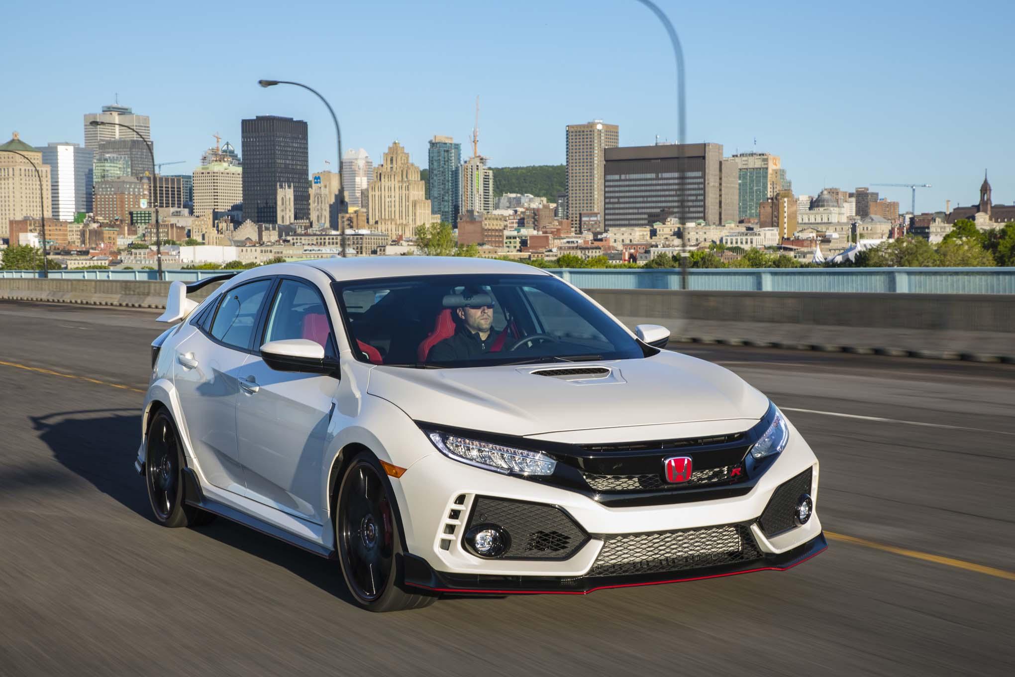 2017 Honda Civic Type R Front Three Quarter In Motion 22