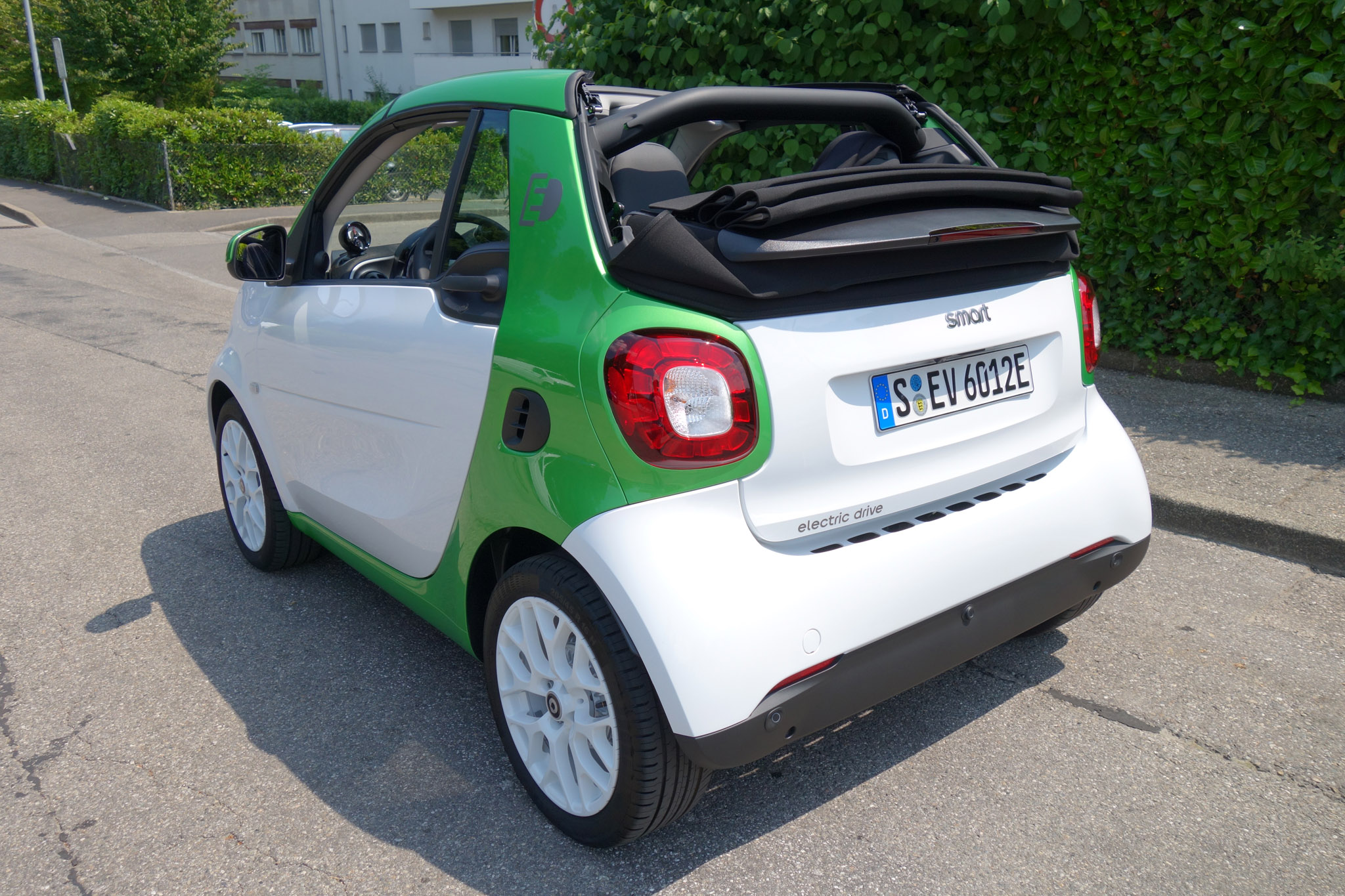 2017 Smart Fortwo Cabrio Electric Drive Three Quarter Rear