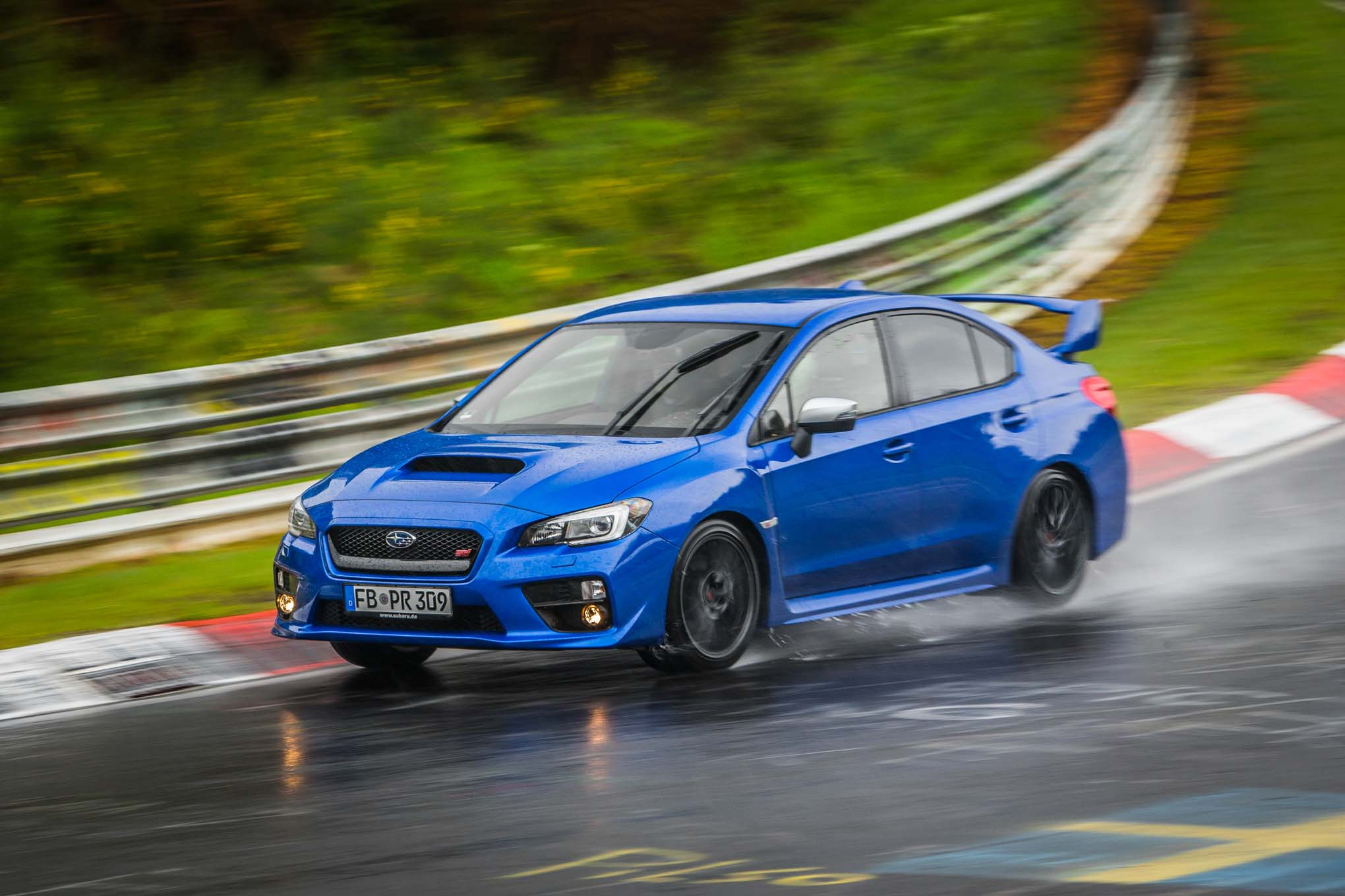 2017 Subaru WRX STI On The Nürburgring Ring Front Side In Motion 04