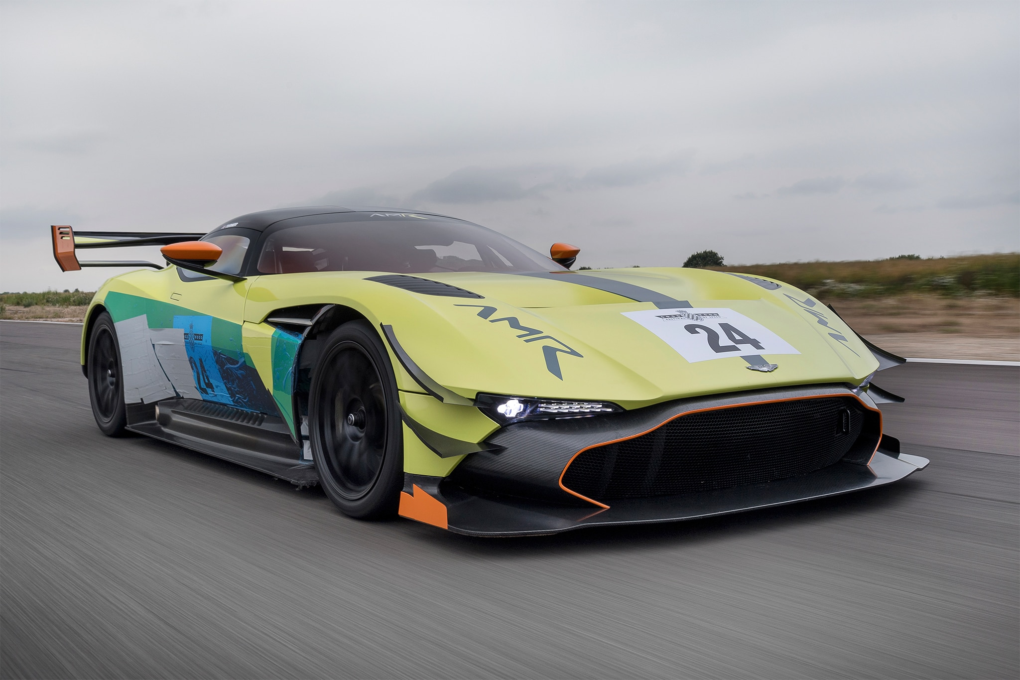 Aston Martin Racing Vulcan Pro Front Three Quarter In Motion 7