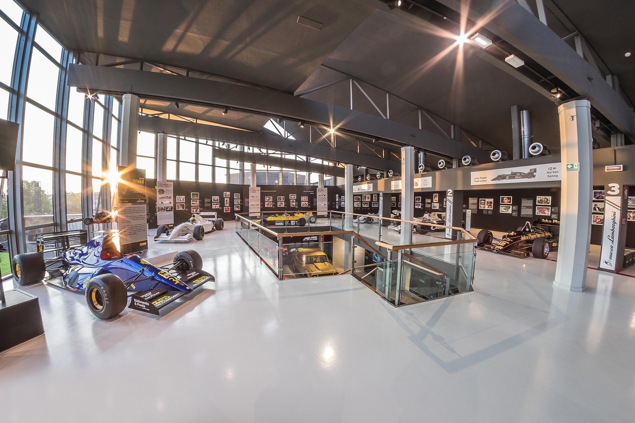 Ayrton Senna Exhibit Lamborghini Museum 17