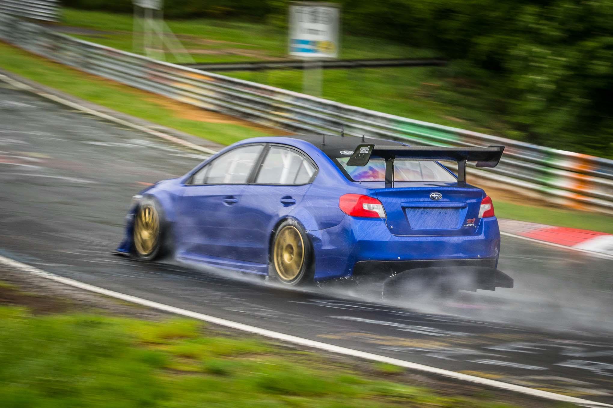Nurburgring Monsoon Subaru Wrx Sti Record Attempt On The