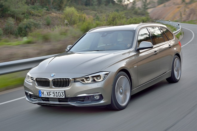 2016 BMW 3 Series Sport Wagon Front Three Quarter In Motion 03
