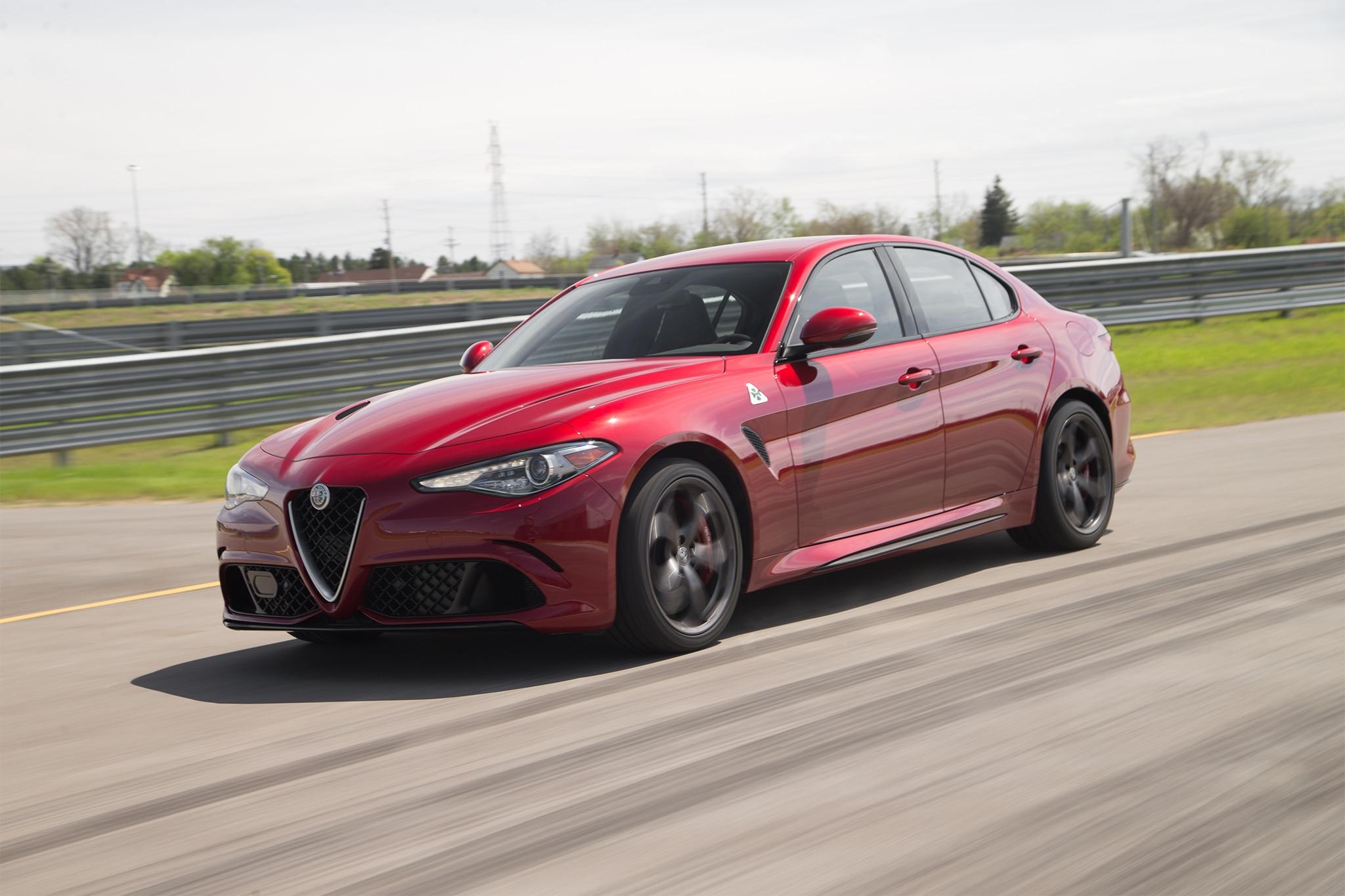 2017 Alfa Romeo Giulia Quadrifoglio Front Three Quarter In Motion 06