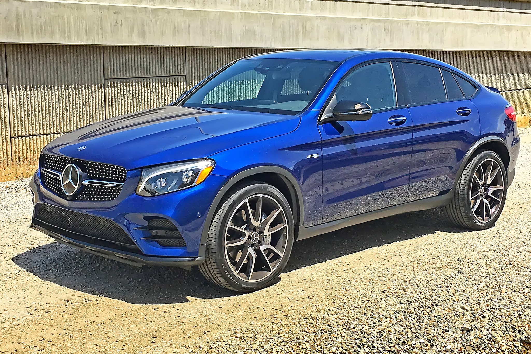 2017 Mercedes AMG GLC43 Coupe Front Three Quarter 02