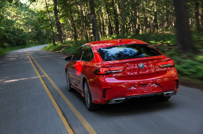 2018 Buick Regal GS Rear Motion View Down Road