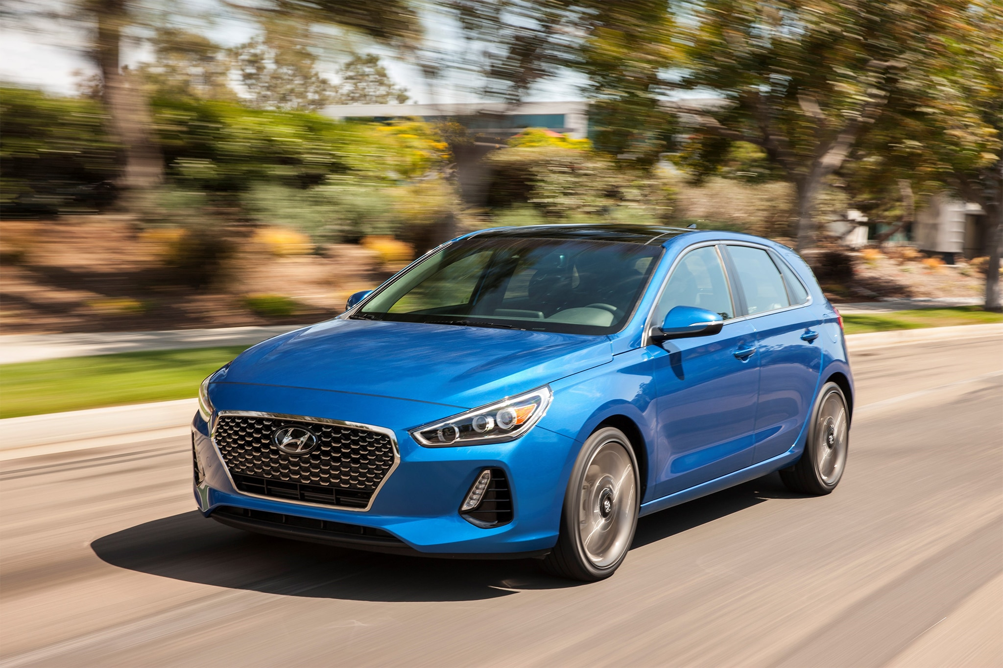 2018 Hyundai Elantra GT Sport Front Three Quarter In Motion 09