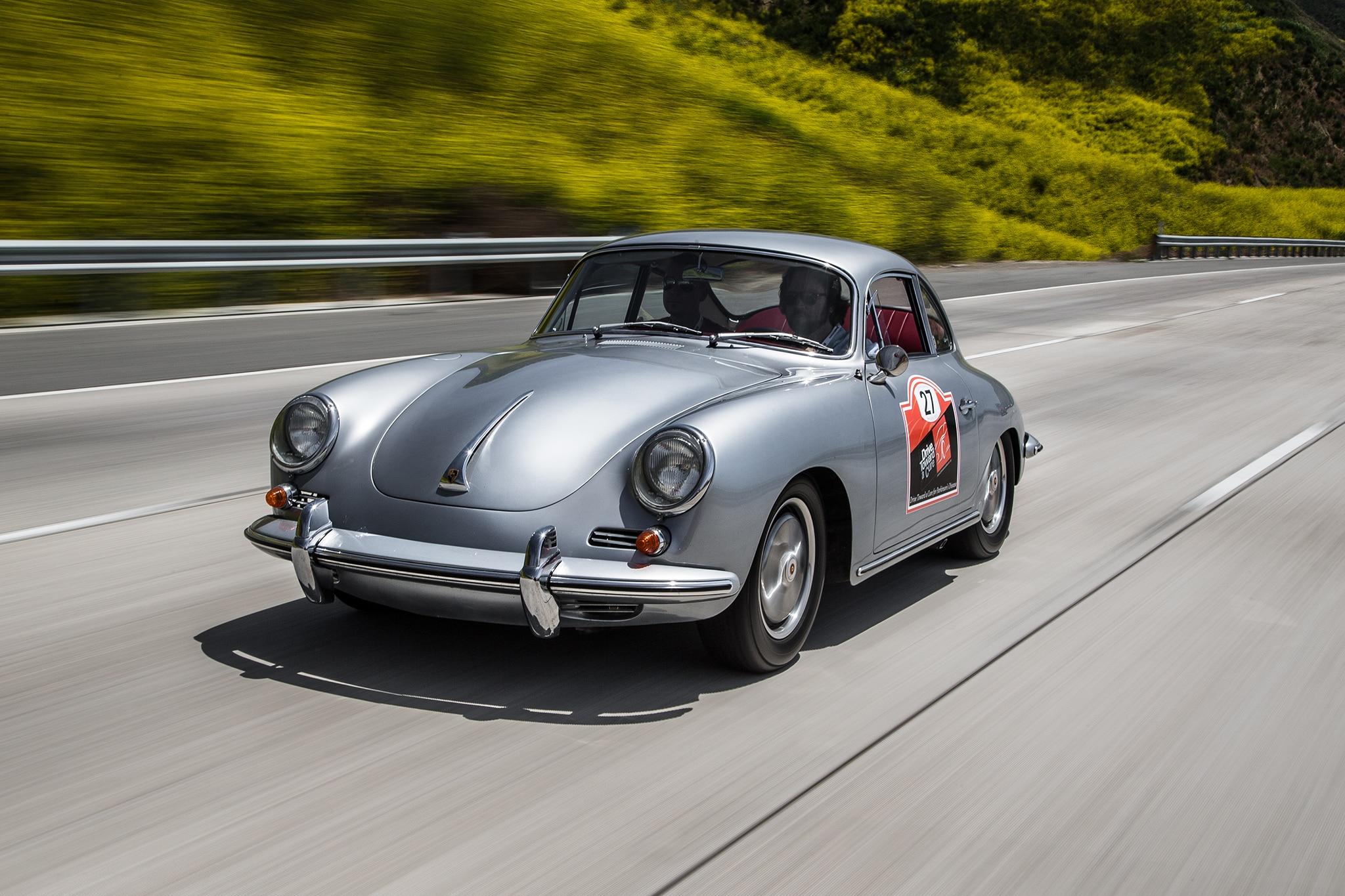 1964 Porsche 356 C Front Three Quarter In Motion 02