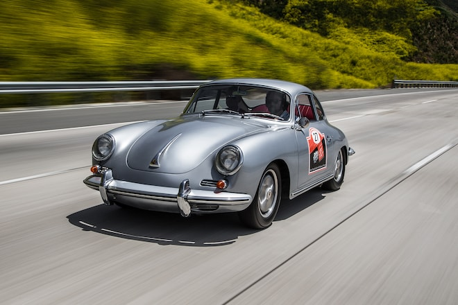 1964 Porsche 356 C Front Three Quarter In Motion 02