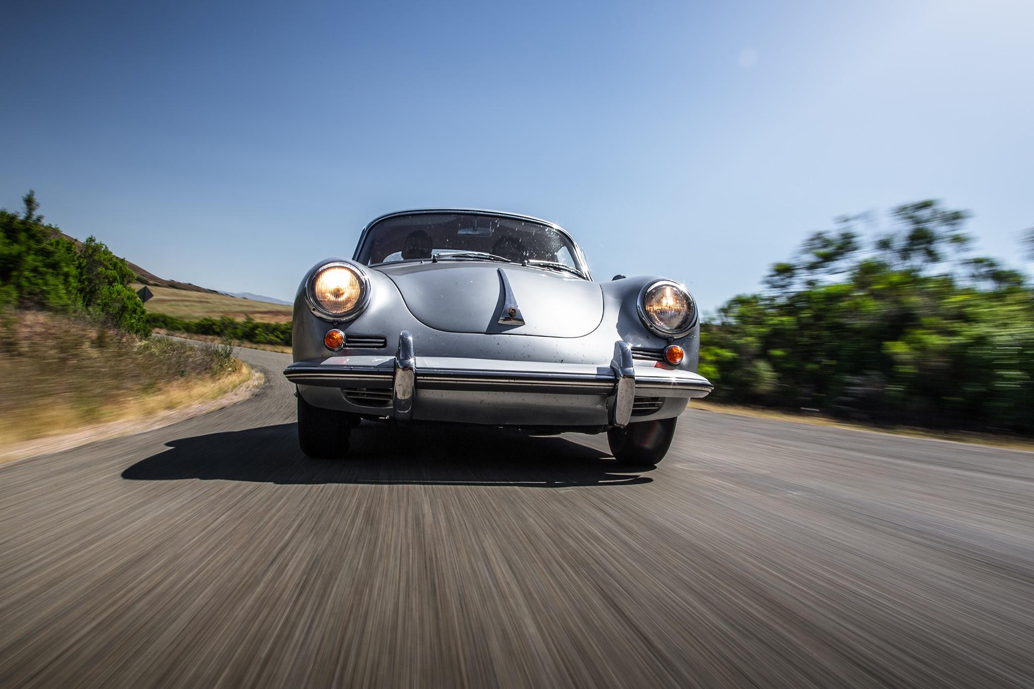 1964 Porsche 356 C Front View In Motion 01