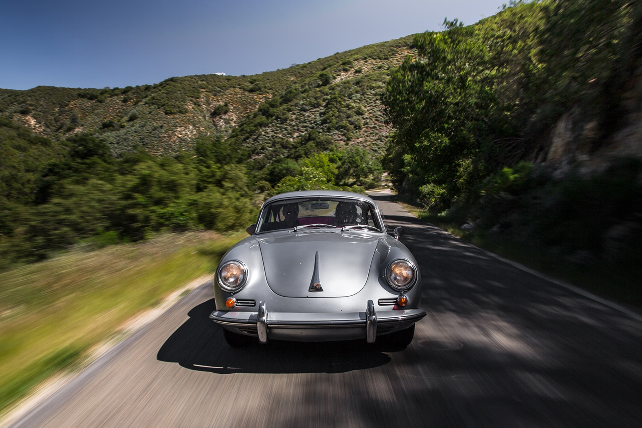 1964 Porsche 356 C Front View In Motion 02