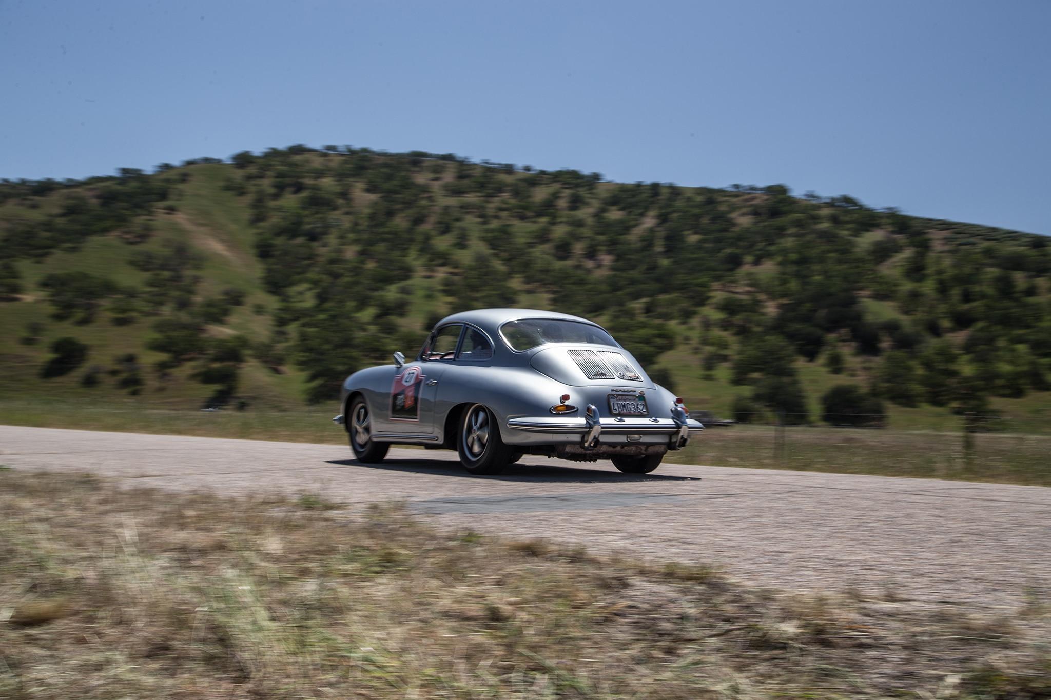 1964 Porsche 356 C Rear Three Quarter In Motion 03