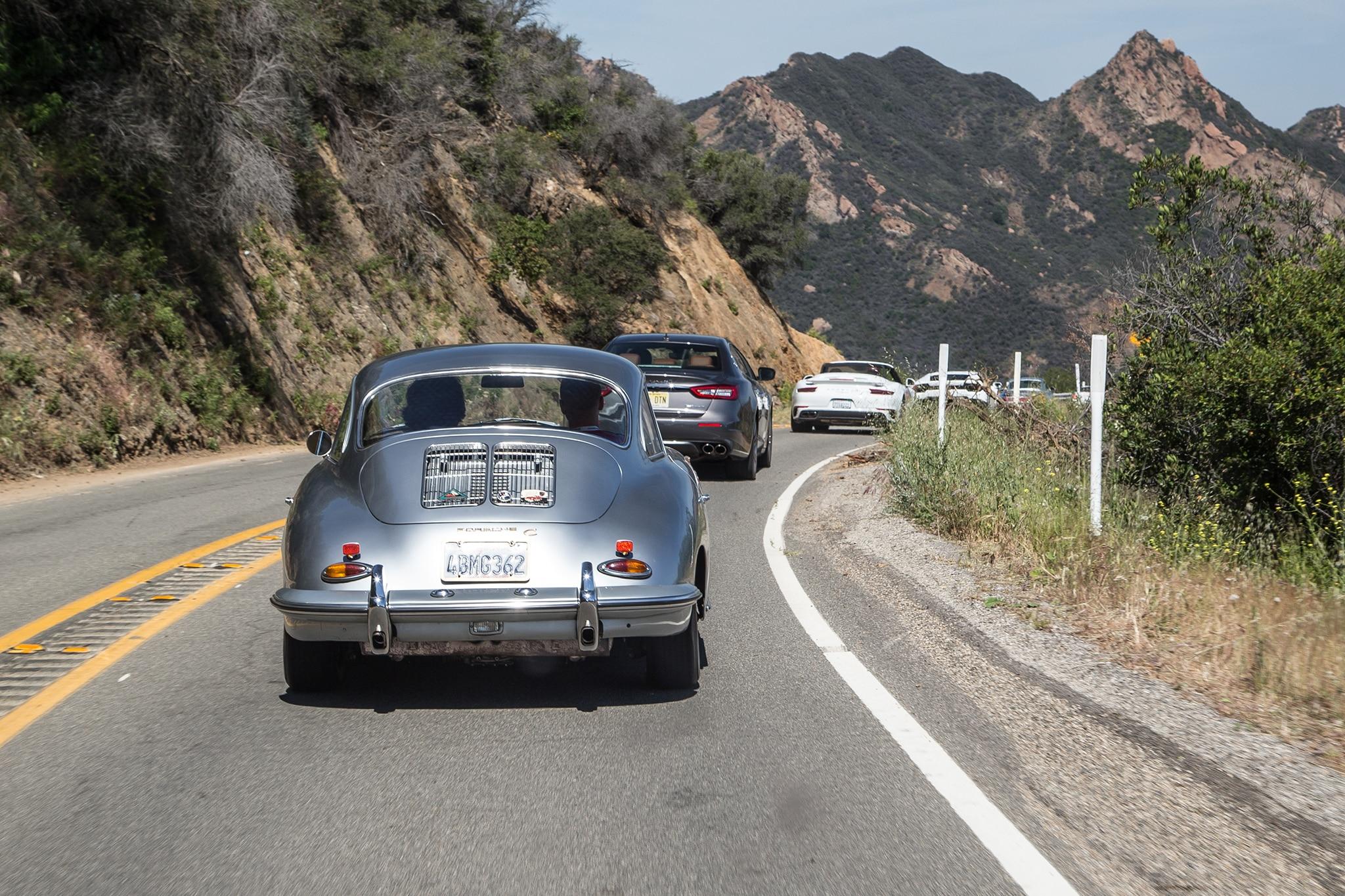 1964 Porsche 356 C Rear View In Motion 02
