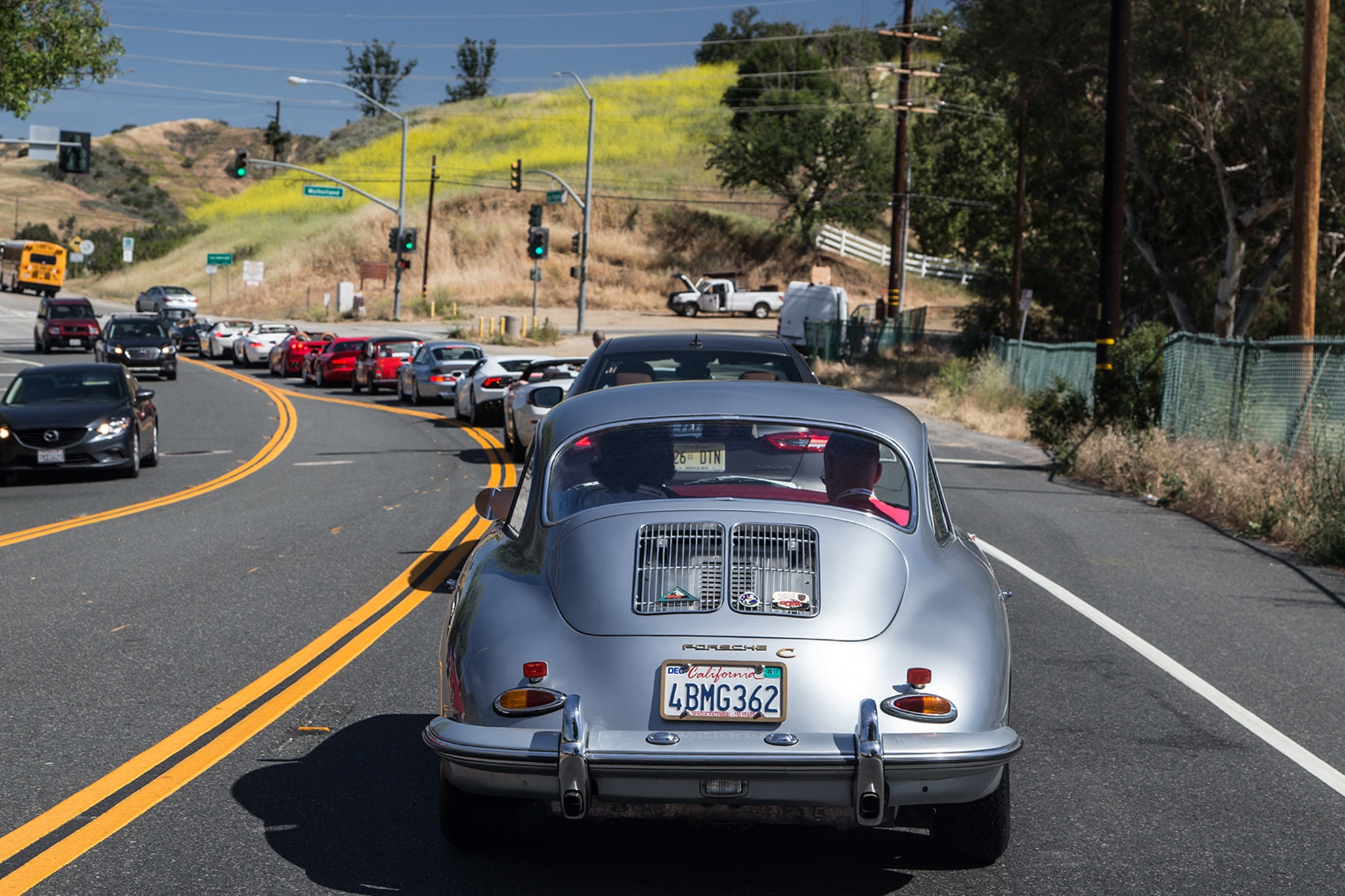 1964 Porsche 356 C Rear View In Motion 03