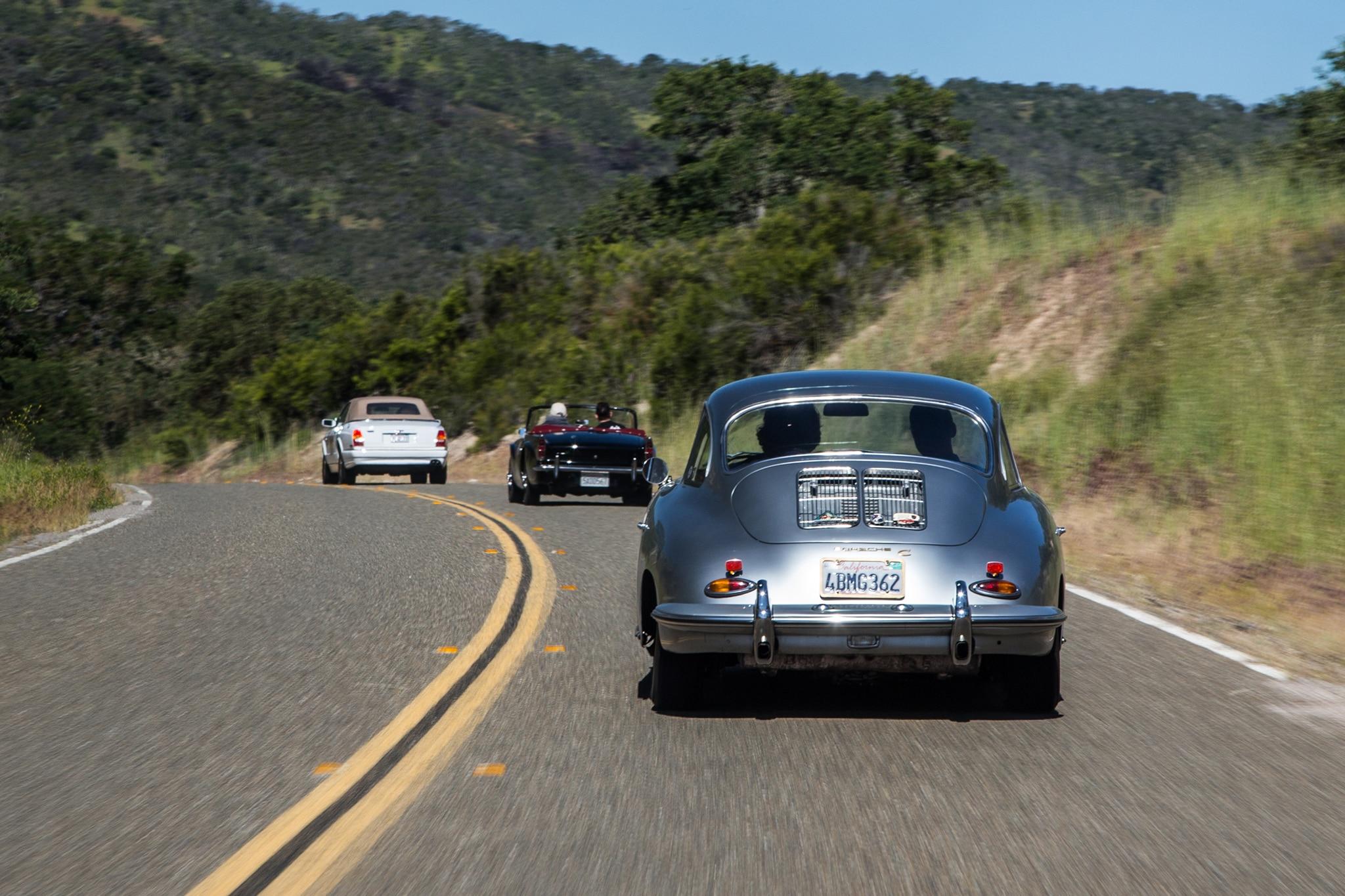 1964 Porsche 356 C Rear View In Motion 05