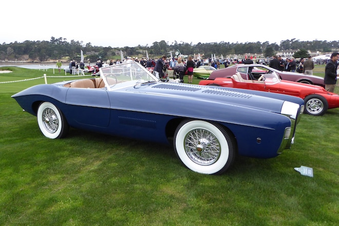 1965 Bugatti Type 101C Virgil Exner Ghia Roadster Profile