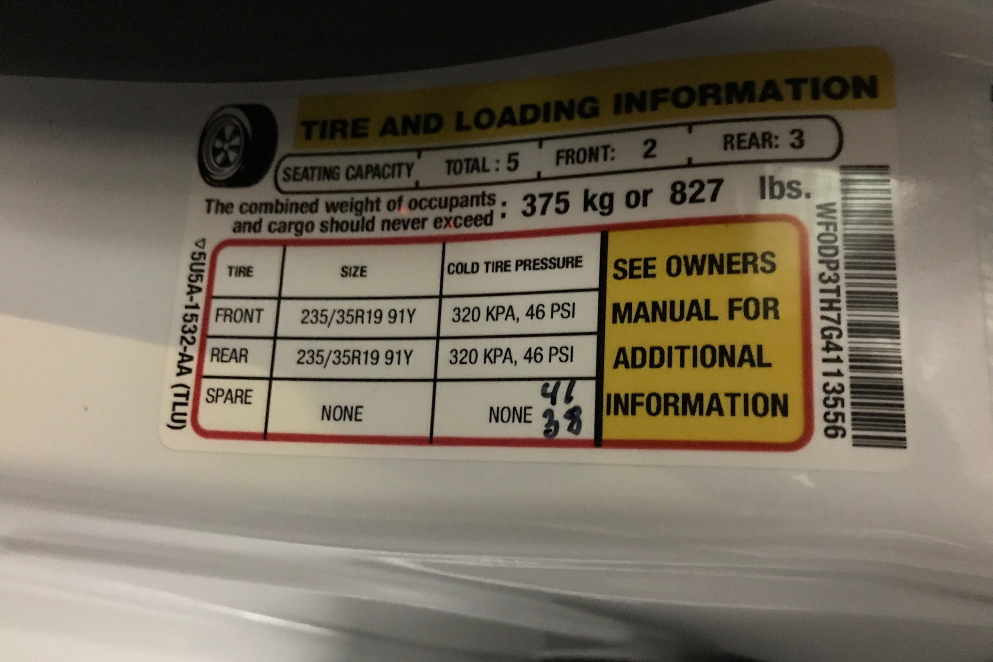 The Inadequate Tire Pressure Sticker | Automobile Magazine