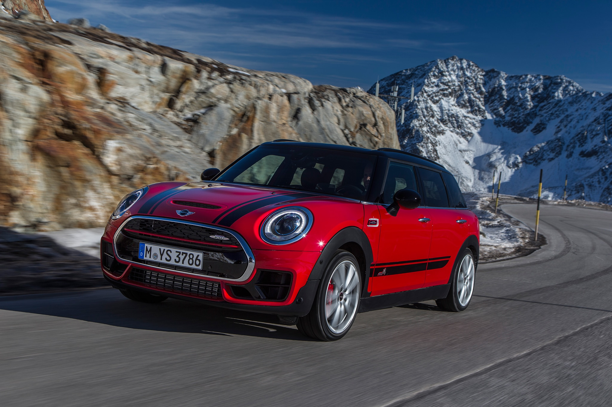 2017 Mini John Cooper Works Clubman All4 Front Three Quarter In Motion 12