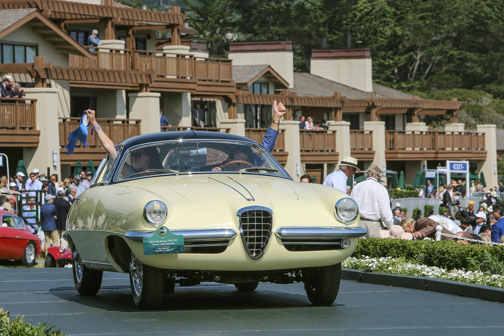 2017 Pebble Beach Concours Ramp Cars 05 1955 Alfa Romeo 1900CSS Boano Coupe Speciale