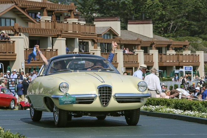 2017 Pebble Beach Concours Ramp Cars 05 1955 Alfa Romeo 1900CSS Boano Coupe Speciale