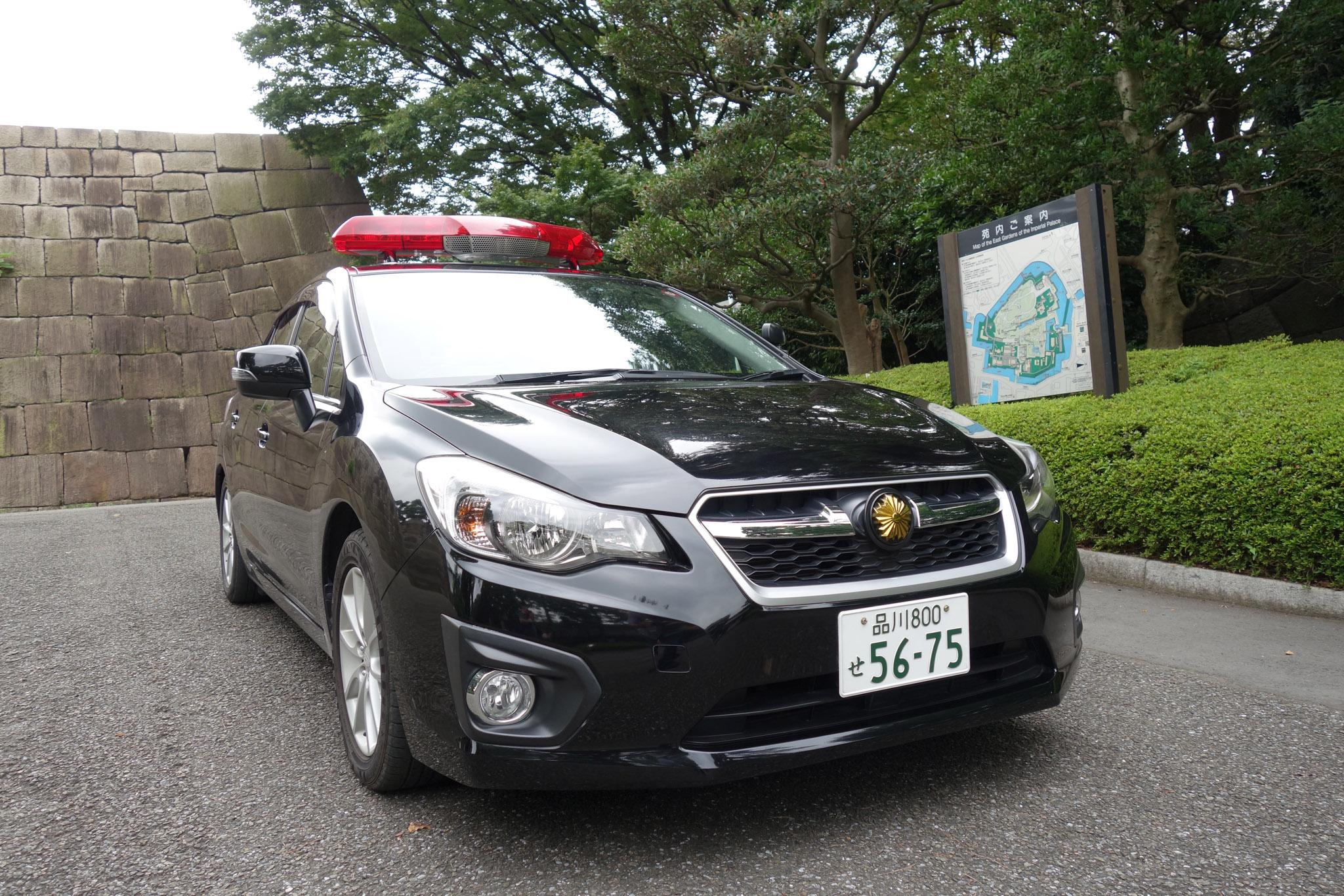2017 Tokyo Police Subaru G4 Front