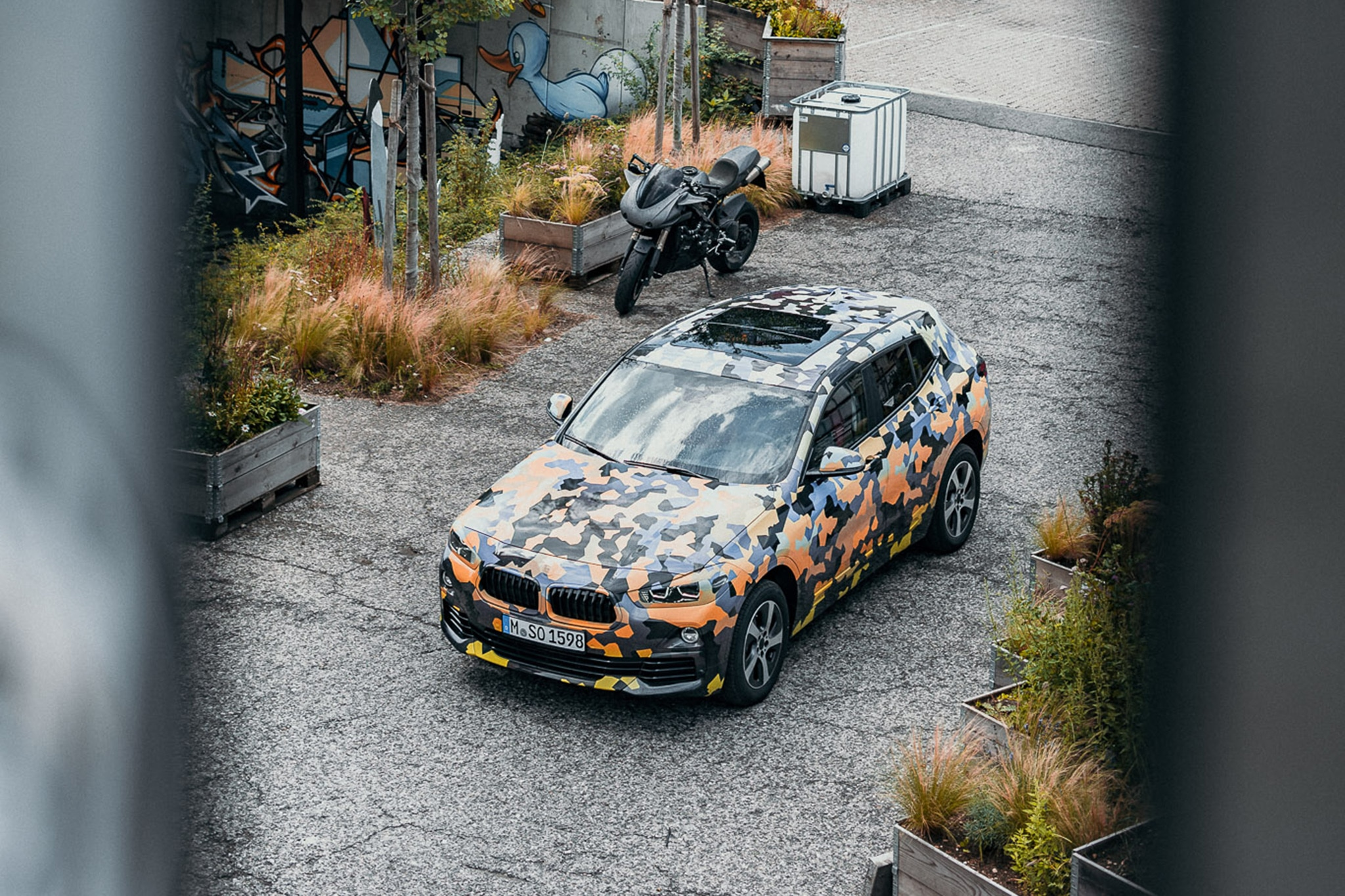 2018 BMW X2 Test Mule Top Front Three Quarters