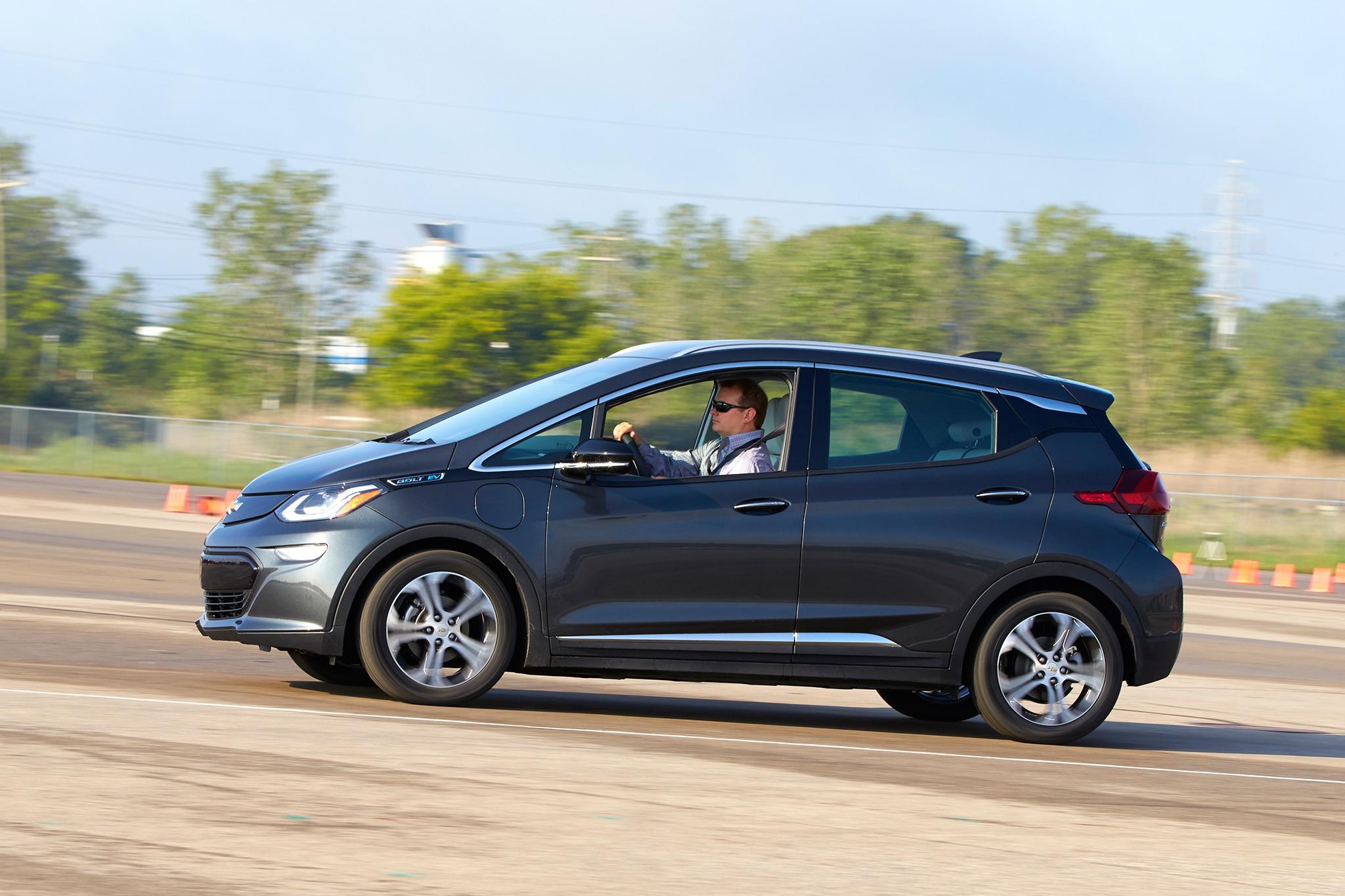 2017 Chevrolet Bolt EV Side Profile In Motion 01