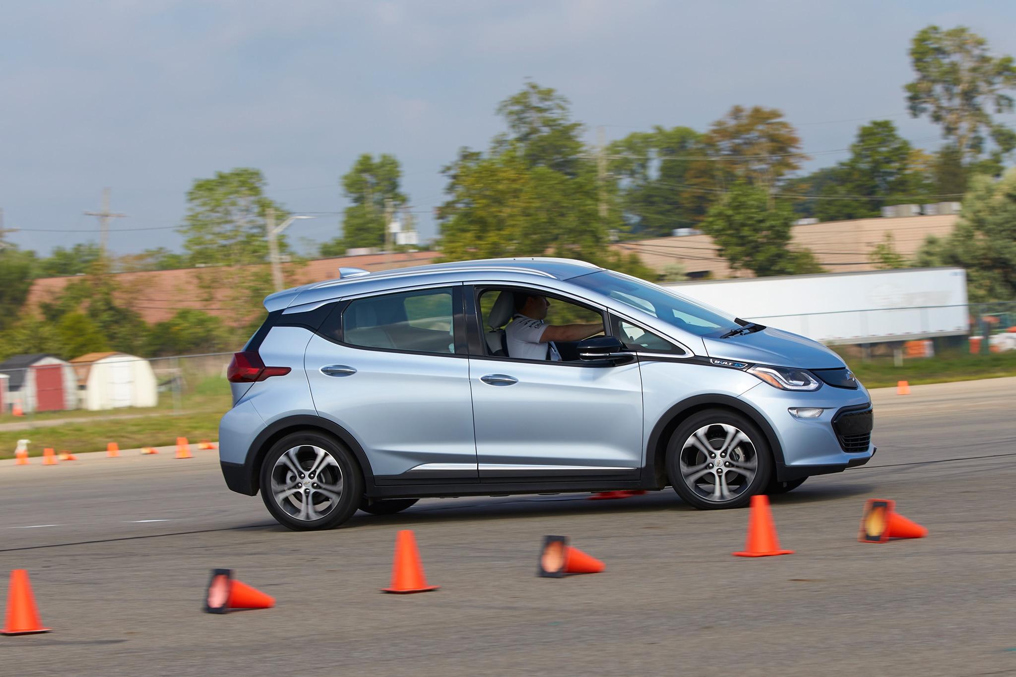 2017 Chevrolet Bolt EV Side Profile In Motion 06