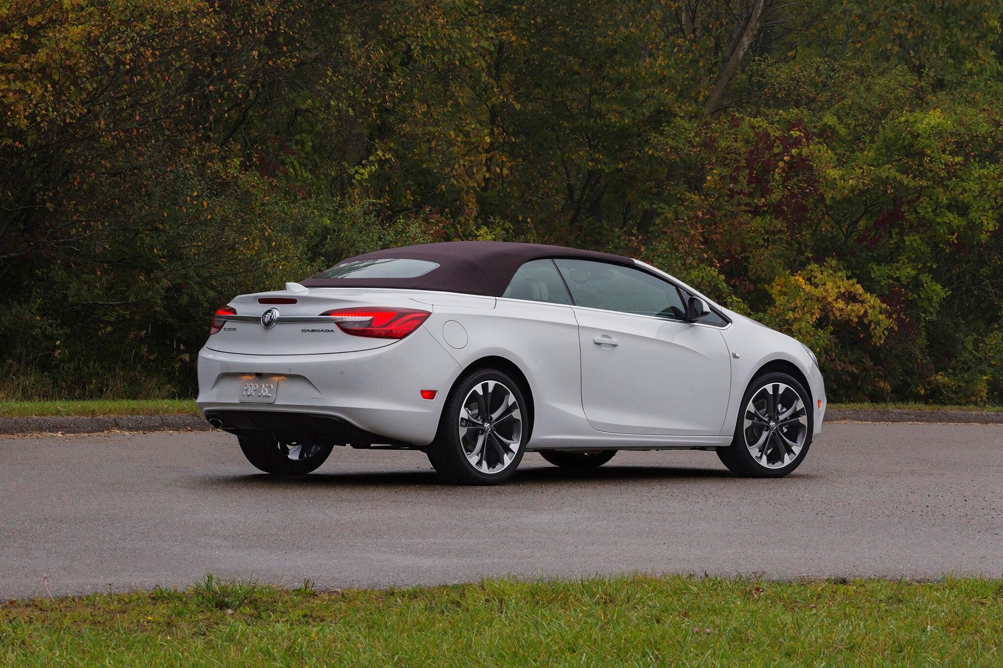 2018 Buick Cascada White Rear Three Quarters