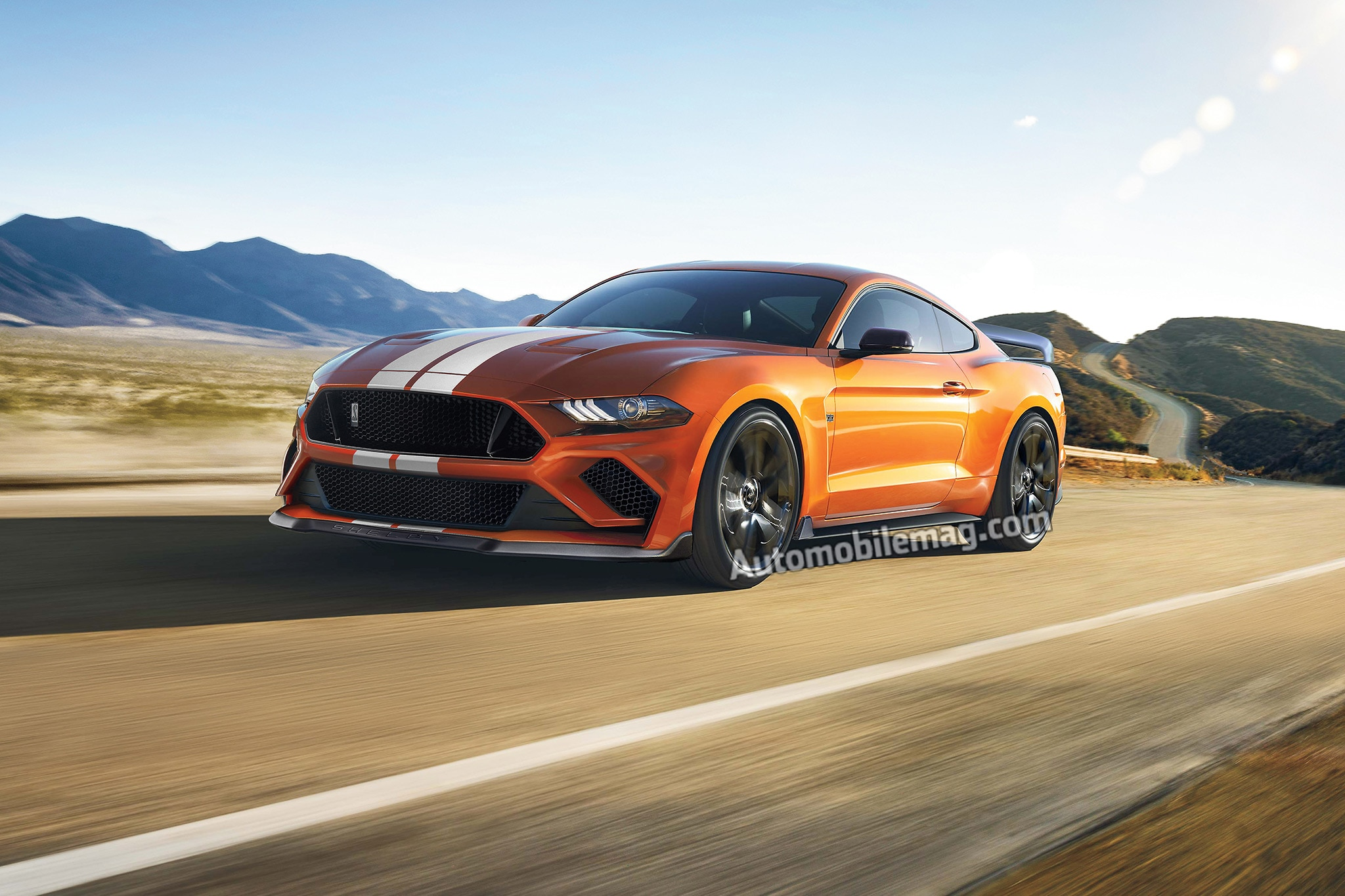 2019 Ford Shelby Mustang GT500 Illustration