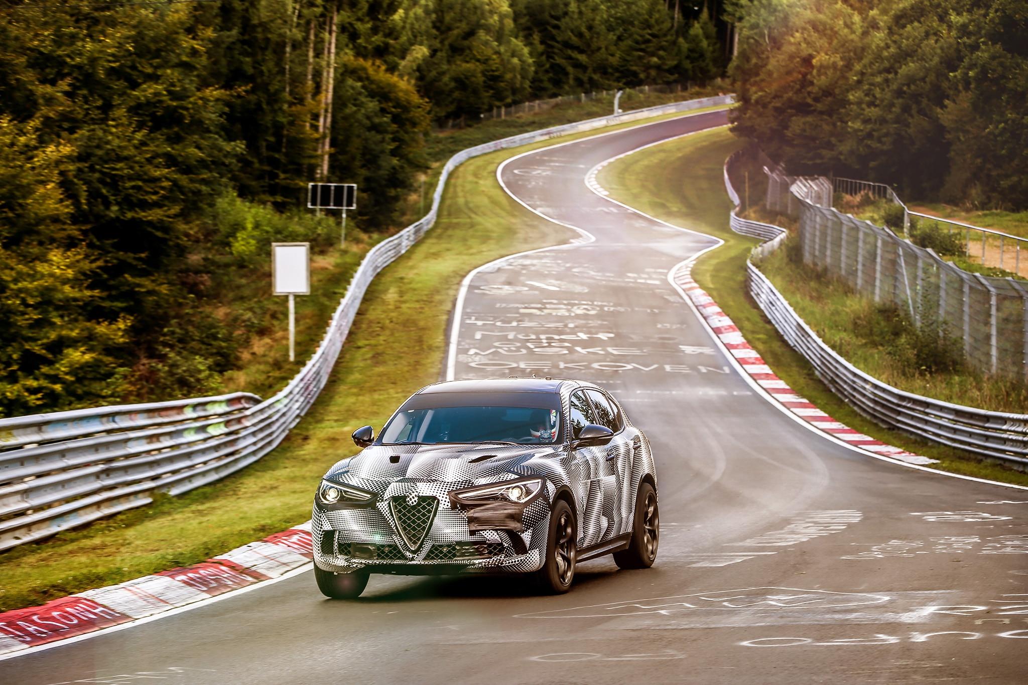 Stelvio Quadrifoglio Sets Nurburgring Lap Time Record