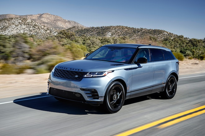 2018 Range Rover Velar Front Three Quarter In Motion 12
