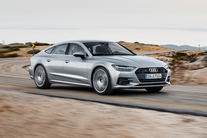 2019 Audi A7 Front Three Quarter In Motion 1