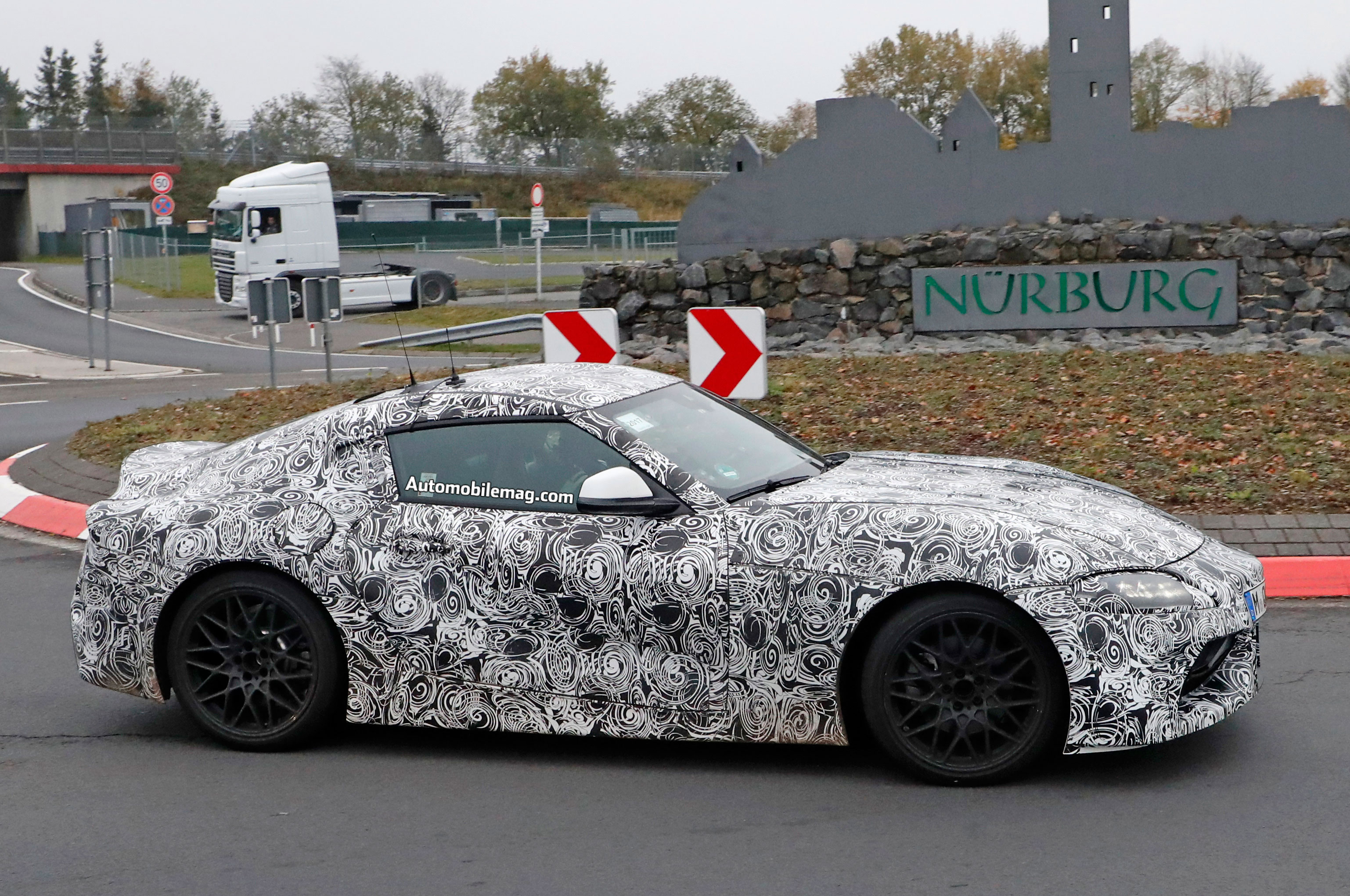 Toyota Supra Shows Headlights And Taillights Automobile Magazine