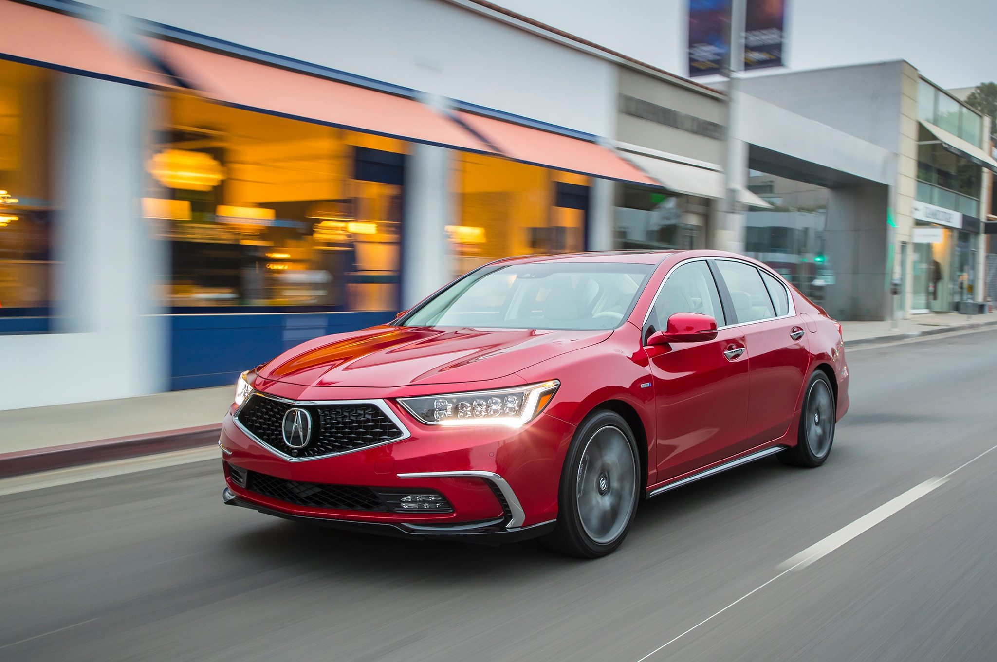 2018 Acura RLX Sport Hybrid Front Three Quarter In Motion 06