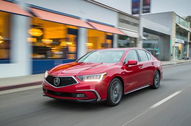 2018 Acura RLX Sport Hybrid Front Three Quarter In Motion 06